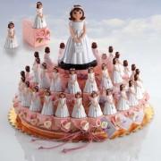 Presentación forma de tarta niña bolsito