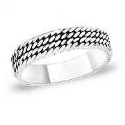 Sterling Silver Band style Finger Ring By Taraash