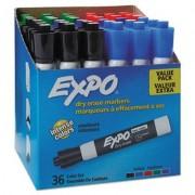 Low Odor Dry Erase Marker, Chisel Tip, Assorted, 36/box