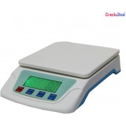 CrackaDeal New TS 200V Digital 7Kg Electronic Weighing Scale(White, Blue)
