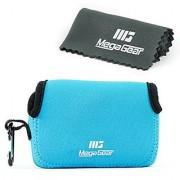 MegaGear ''Ultra Light'' Neoprene Camera Case Bag with Carabiner for Canon PowerShot G7X Canon PowerShot G7 X Mark II Cameras (Blue)