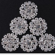Magideal 10x Double Row Hollow Out DIY Crystal Rhinestone Conchos Accessories Silver