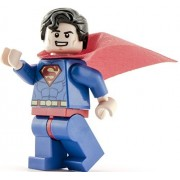 Genuine Lego DC Super Heroes Superman Minifigura sonriente - Split de Juniors 10724 Set
