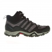 Adidas Terrex Swift R Mid Herren Gr. 9½ - grau schwarz / granite/co black/solid grey - Sportliche Hikingstiefel