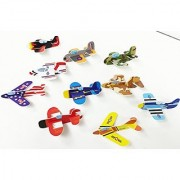 GIFTEXPRESS 72 pcs Foam Gliders Mix/Glider Planes/Foam Airplane Gliders perfect for aviation themed Party/Pinata Stuffing/Reward Box/Party Favor/Goody Bags/Party Give Away/Halloween Gifts