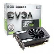 EVGA 02G P4-2961-KR GTX 960 NVIDIA Gaming - ACX 2,0 scheda grafica (PCI-e 2 GB GDDR5 1 x DVI-I DL, 1 x DVI-D DL, 1 x HDMI 2,0, 1 x DP 1,2, 1 x GPU)