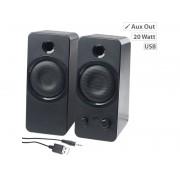 Aktive Stereo-Lautsprecher MSX-150 mit USB-Stromversorgung, 20 Watt