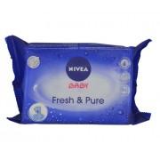 Nivea Baby Fresh & Pure Cleansing Wipes Kinderkosmetik für Frauen Reinigungstücher für zarte Kinderhaut