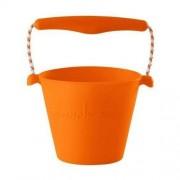 Scrunch - bucket Zwijane wiaderko silikonowe - Pomarańczowe