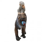 Generic Realistic Mandrill Female With Baby Monkey Model Action Figure Kids Toy Gift