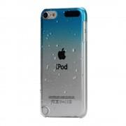 Regendruppel hoesje iPod Touch 5/6 Doorzichtig blauwe hardcase 3D water