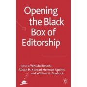 Opening the Black Box of Editorship by Yehuda Baruch