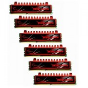 Memorie G.Skill Ripjaws 24GB (6x4GB) DDR3, 1600MHz, PC3-12800, CL9, Triple Channel, Hexa Kit, F3-12800CL9T2-24GBRL