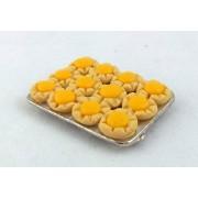 Accesorio de Cocina Miniatura Casa De Muñecas Pastel Bandeja Para Hornear de Limón Cuajada Pasteles