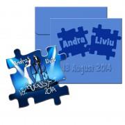 Magneti marturii nunta, forma puzzle