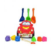 VSHINE Shape Sorter Car With Learn Shapes , Color & Also Comes with Sand Play Tools