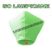 50 Lampioane Zburatoare Verzi
