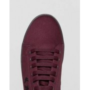Fred Perry Kingston Twill Plimsolls in Red - Red