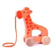 Hape Push And Pull Giraffe Orange