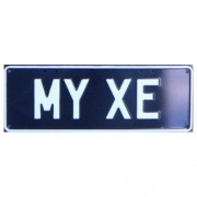 """""""Novelty Number Plate - My XE White On Black"""""""