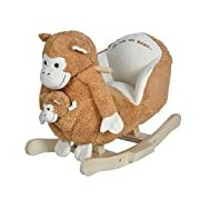 Knorrtoys 40355 Rocking Cheeky Monkey Munky with Sound Including Hand Puppet