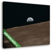 A Föld a Holdról nézve (30x25 cm, Vászonkép )
