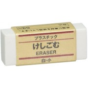 JAPAN MUJI Eraser White MoMA Collection Small Size