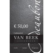 VAN BEEK COLLECTION Cadeaubon cadeaubon € 50