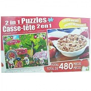 LPF 480 Piece 2-in-1 Puzzle ~ Farm Hands & American Pie (2 X 240pc Puzzles - Mixed in 1 Box)