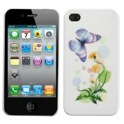 Funda Protector iPhone 4G/4S Mariposa con Flor