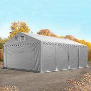 Profizelt24 Lagerhalle 5x8m PVC grau Zelthalle, Lager, Industriezelt