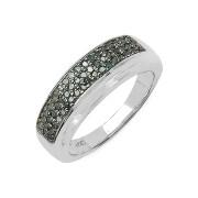 Inel argint cu diamante albastre