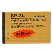BP-3L reemplazo 3.7V 2450mAh bateria para nokia 303/610/603 / lumia 710 - de oro