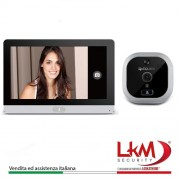 "Eques R22 wireless Spioncino Digitale Porta camera 2Mpx Con Schermo Display Touch Screen da 7"" colore Alluminio"