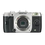 """Pentax Q7 Appareil photo hybride 3"""" (7,62 cm) 12 Mpix Argent + Objectif - Boîtier Nu"""