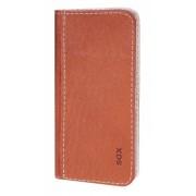 Калъф тефтер от естествена кожа BOOKLET за Samsung Fame 6810 size M кафяв