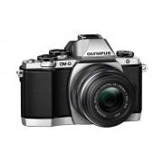 Професионален фотоапарат Olympus OM-D E‑M10, 16MP, тъч, Wi Fi контрол с Обектив EZ-M1442EZ черен/сребрист