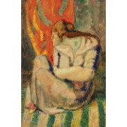Seated Woman on a Striped Floor (Pablo Picasso): Blank 150 Page Lined Journal for Your Thoughts, Ideas, and Inspiration