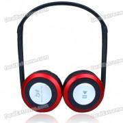I58 Sport Lecteur MP3 + Oreillette Bluetooth V2.0 stéréo + Radio FM w / TF - Noir + argent + rouge