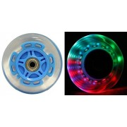 LED SCOOTER WHEELS ABEC9 BEARINGS for RAZOR SCOOTERS 100mm LIGHT UP Blue 2-pack
