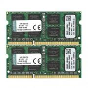 Kingston KVR13S9K2/16 Memoria RAM da 16 GB, Kit 2x8 GB, 1333 MHz, DDR3, Non-ECC CL9 SODIMM 204-pin, 1.5 V