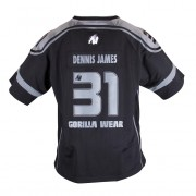Gorilla Wear GW Athlete T-Shirt Dennis James Black/Grey - XL