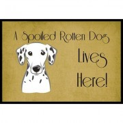 Caroline's Treasures Dalmatian Spoiled Dog Lives Here Mat BB1458JMAT / BB1458MAT