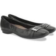 Clarks Candra Glare Black Leather Slip On shoes(Black)