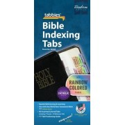 Rainbow Bible Indexing Tabs Including Catholic Books - by Tabbies