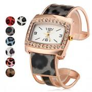 Mulheres Relógio de Moda Quartz Lega Banda Brilhante Preta / Branco / Azul / Vermelho / Dourada / Rosa / Roxa marca-
