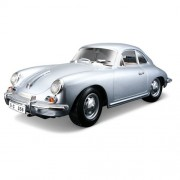 Bburago - 2043142 - Véhicule Miniature - Modèle À L'échelle - Porsche 356b Coupe 1961 - Argent - Echelle 1/18