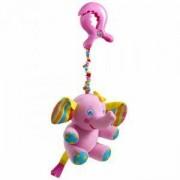 Плюшена играчка за количка - малки умничета - розово слонче, Tiny love, 076654