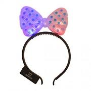 WeGlow International Light Up Hair Bow Headband Blue Pack of 4