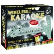 Set Karaoke Wireless cu 4 microfoane